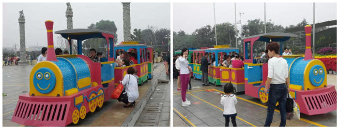 Beston hot selling candy-colored trackless train ride on city square