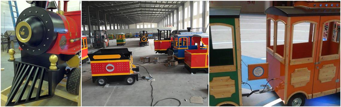 Beston amusement train rides on factory
