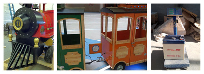 details of Beston trackless mall train rides( locomotive, carriage,battery)