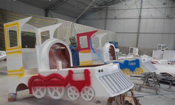 Trackless Train painting5- Beston Amusement train
