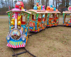 Amusement track train ride