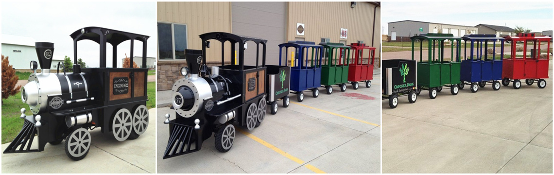 amusement park trains