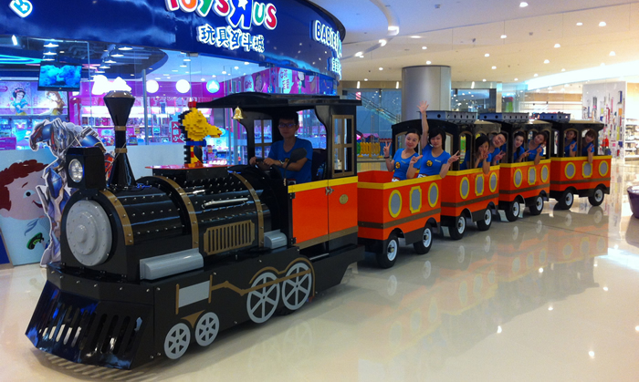 electric trakless mall train for sale