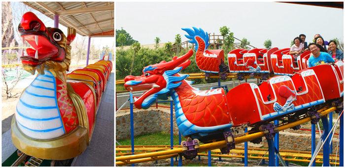 kids dragon-themed roller coaster
