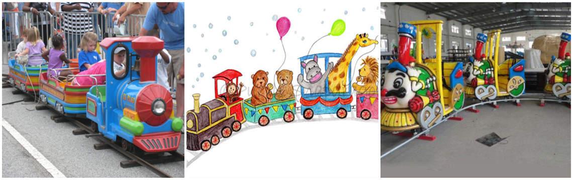 kids train rides on rails for sale