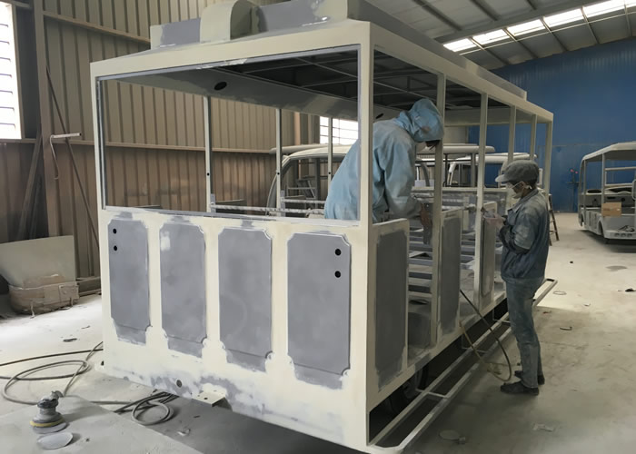 Beston trackless train BTR020 factory and clients 1