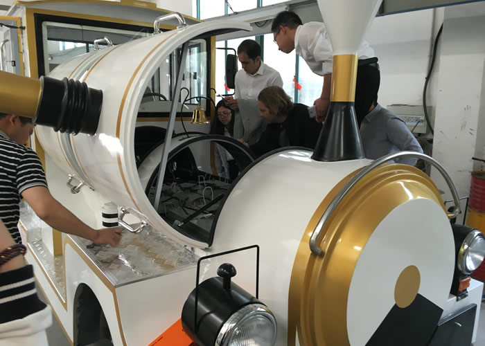 Beston trackless train BTR020 factory and clients 6