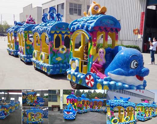 Kiddie Ocean Theme Trackless Train
