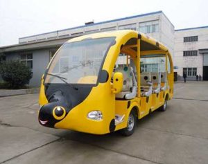 Yellow 14 Seat Electric Worm Trackless Train