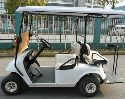 White Back to Back Golf Carts for Sale