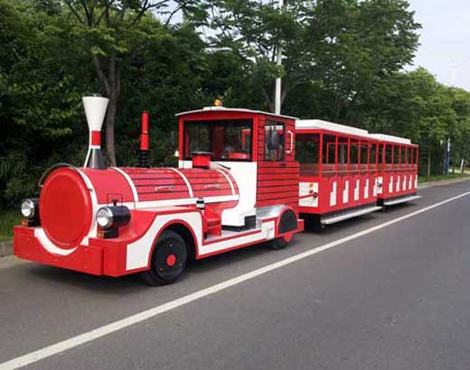 Red Trackless Train Rides for Zoo