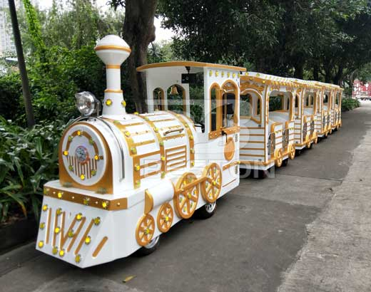 Vintage Amusement Trackless Train